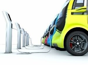 Colored charging electric cars
