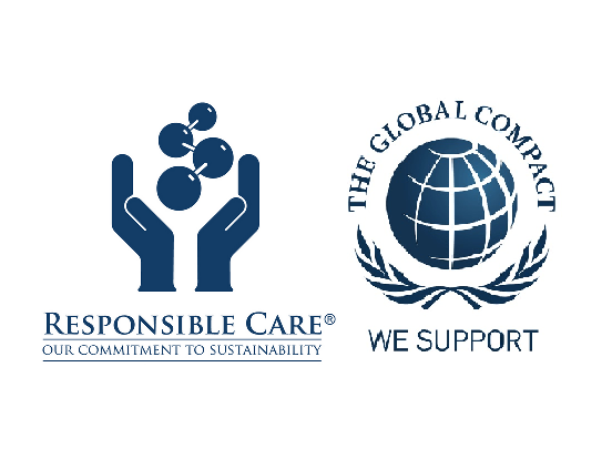 Logo of Responsible Care and The Global Compact